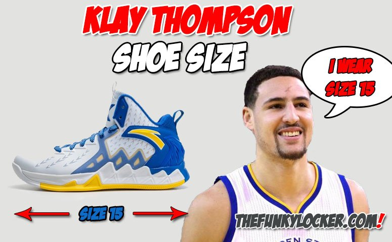What size Shoes Does Klay Thompson Wear?