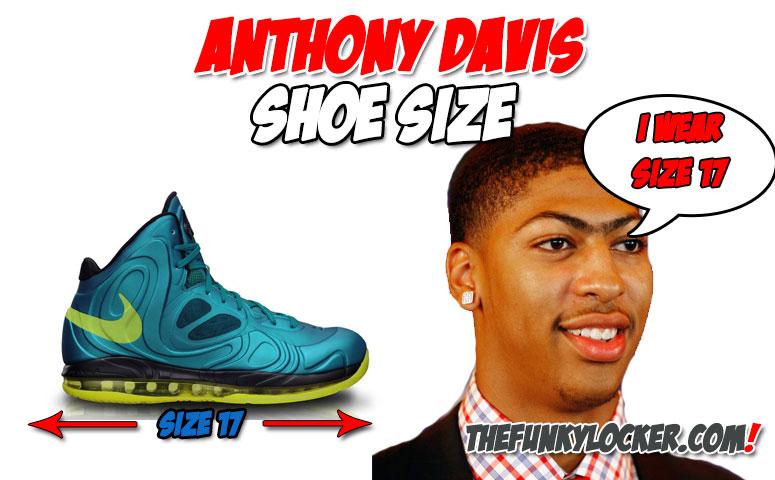 How Big are Anthony Davis Feet?