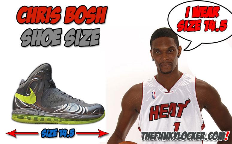 9cc16034f7b Chris Bosh Shoe Size - Find Out What Size Sneakers Bosh Wears