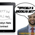 Deron Williams Signs Contract on Ipad