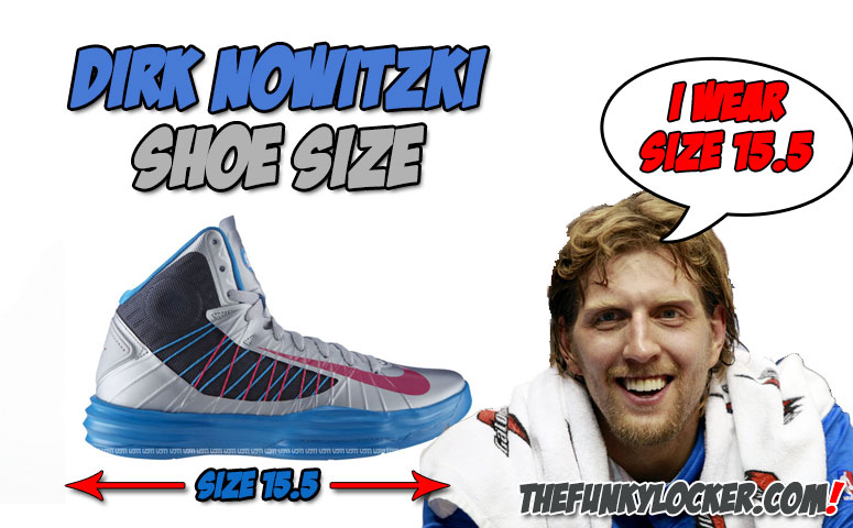 What Size Shoes does Dirk Nowitzki