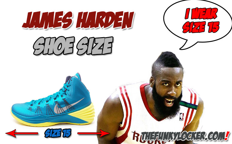3f78b774e8fc James Harden Shoe Size - Find Out What Size Sneakers Harden Wears