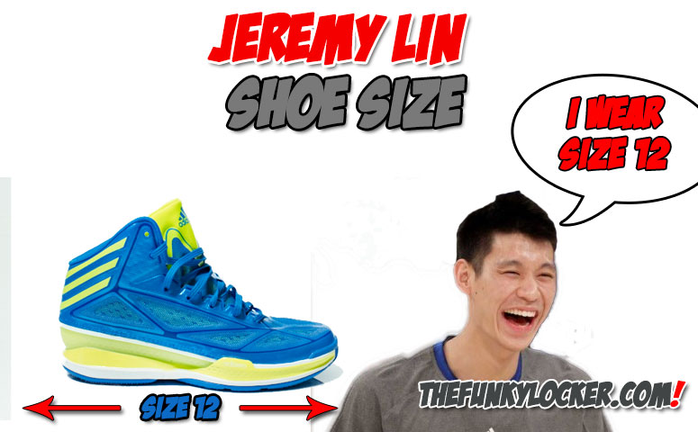 How Big Are Jeremy Lins' Feet?