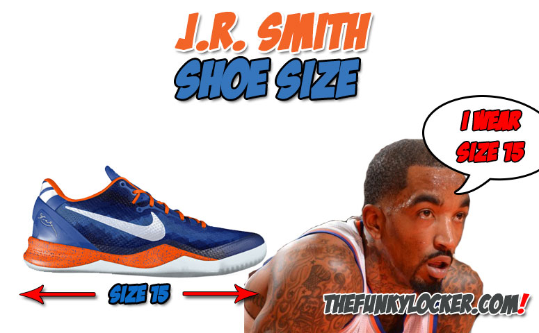 How Big are JR Smith's Feet?
