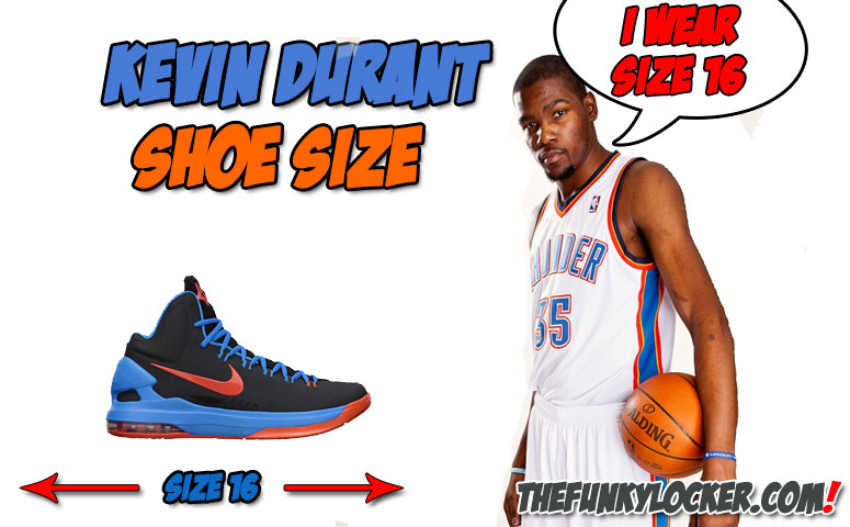 What is Kevin Durant Shoe Size?