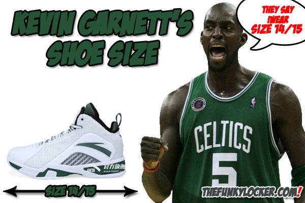 Kevin Garnett Shoe Size