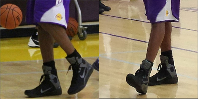 the best attitude 06c0b ef499 ... where to buy nike kobe 9s on kobe bryants feet at lakers practice 18265  10101