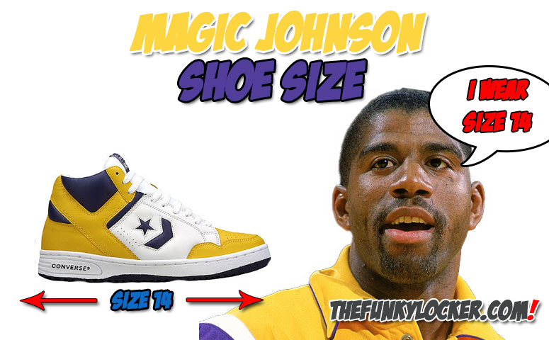 a30d54abc9dc Magic Johnson Shoe Size - Find Out What Size Sneakers Johnson Wears
