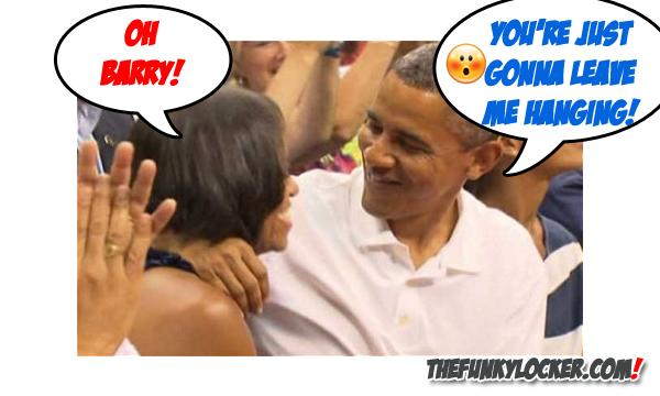 Michelle Obama Disses the President Obama's Kiss Attempt