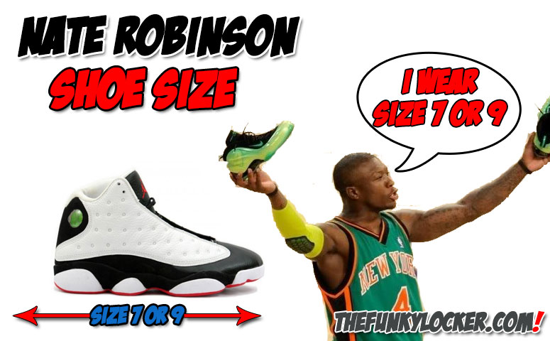 What Size Shoes Does Nate Robinson Wear?
