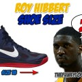 How Big are Roy Hibbert's Feet?