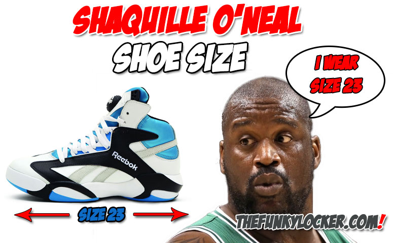 Shaquille o neal shoe size europe