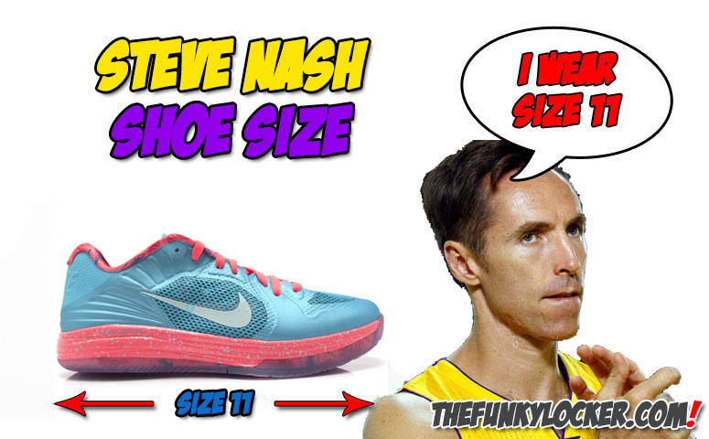What Size Shoes Does Steve Nash Wear?